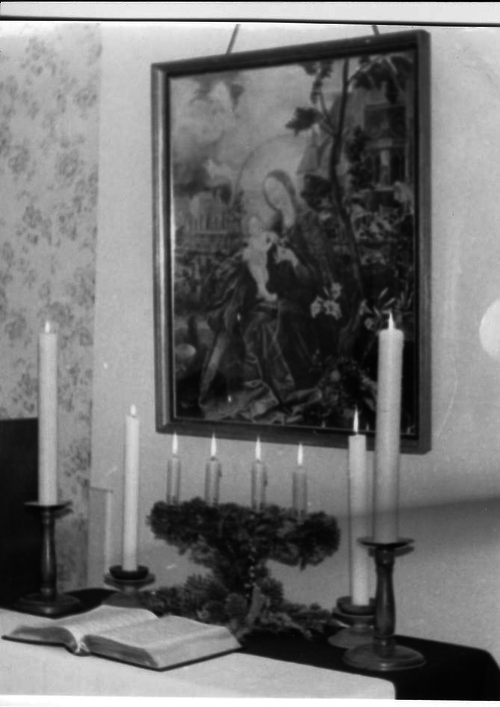 Bild vor Kerzen