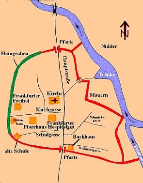 Zeichnung der alten Befestigungsanlagen von Gronau