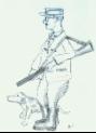 Zeichnung eines Feldschütz