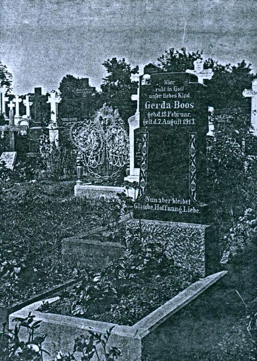 Zeichnung eines Grabs