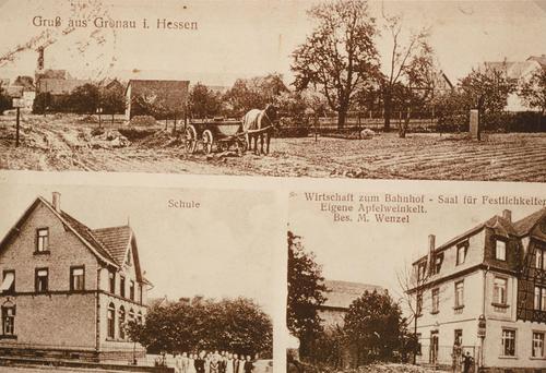 Postkarte mit Motiven aus Gronau