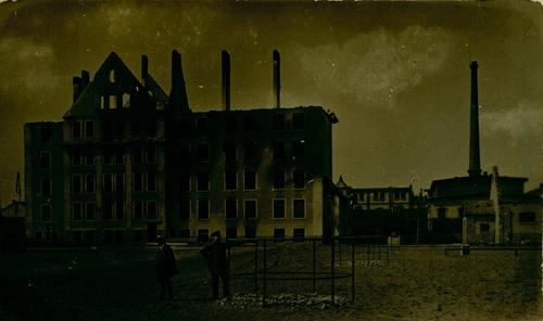 Zerstörtes Fabrikgebäude