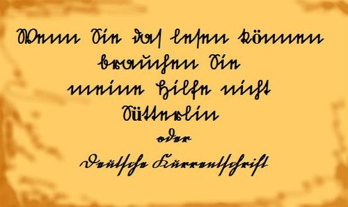 Text in alter Schrift