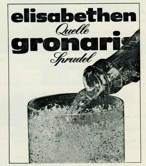 Werbeanzeige der Elisbethenquelle