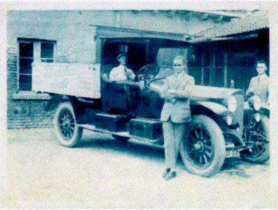 Foto eines Oldtimer LKWS