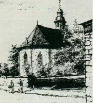 Zeichnung der Kirche
