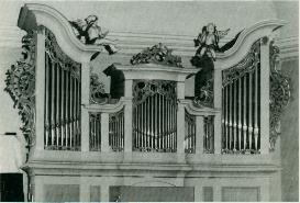 Historisches Foto der Orgel