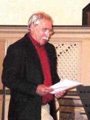 Hansfried Münchberg während des Vortrags Es war einmal in Gronau