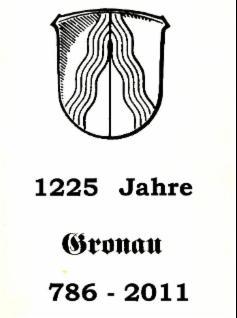 Gronauer Wappen - 1225 Jahre Gronau - 786 bis 1986