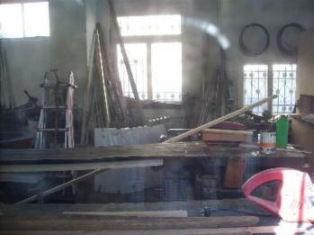 Blick in einer Zimmermannswerkstadt