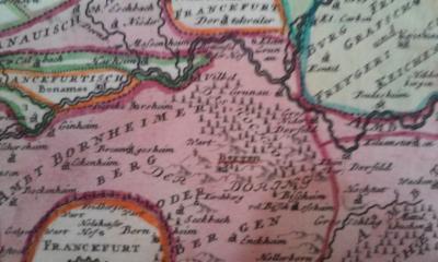 Karte der Gegend um Gronau