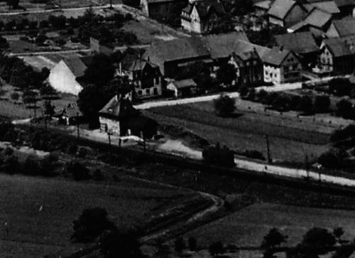 Altes Luftbild des Gronauer Bahnhofs